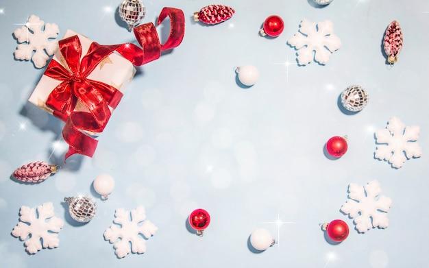 Joyeux Noël Et Bonne Année, Carte De Voeux De Vacances Avec Fond Flou Bokeh Photo Premium
