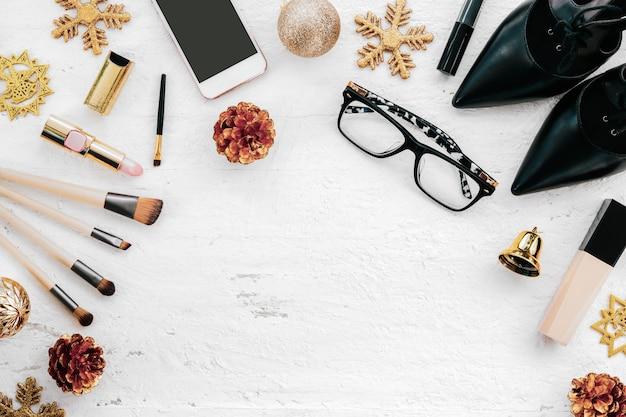 Joyeux noël et bonne année concept de mode Photo Premium