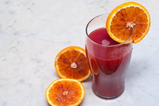 Jus d'orange sanguine Photo Premium