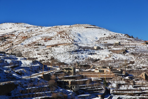 Kadisha Valley Dans Les Montagnes Du Liban Photo Premium