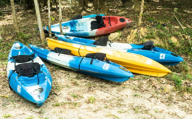 Kayaks colorés Photo Premium