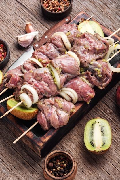Kebab cru Photo Premium