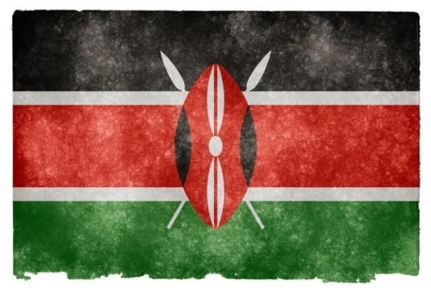 Kenya flag grunge Photo gratuit