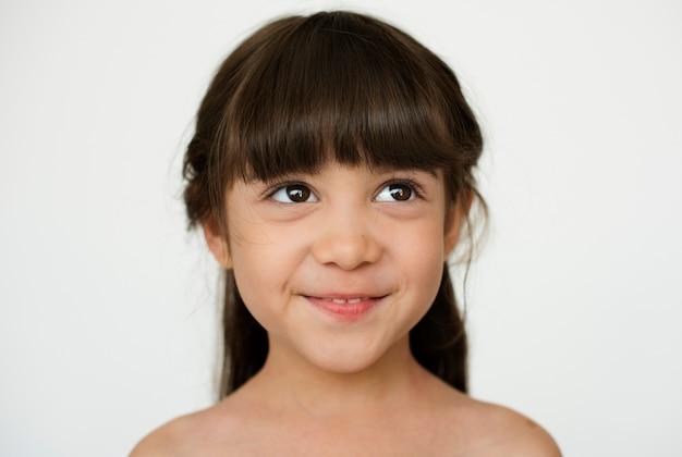 Kid childhood people race émotion studio shoot Photo gratuit