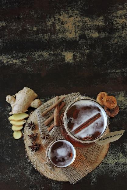 Kombucha de boisson fermentée saine Photo Premium