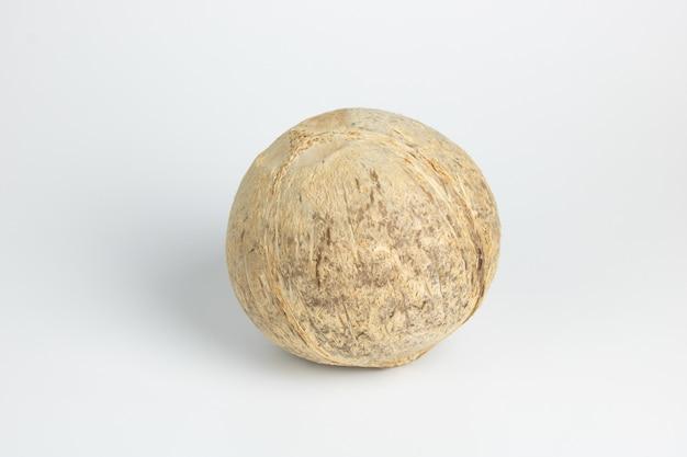 Kopyor noix de coco fruit isolé sur fond blanc Photo Premium