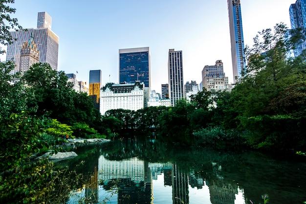 Lac Dans Central Park, New York, Usa Photo gratuit
