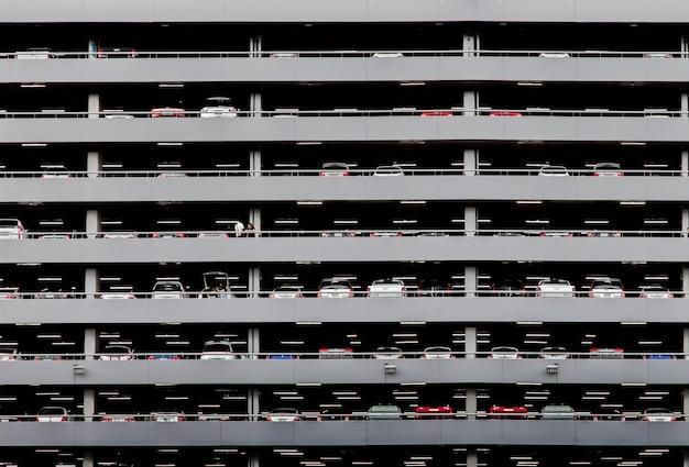 Ladscape ancien bâtiment de stationnement de tradition Photo Premium