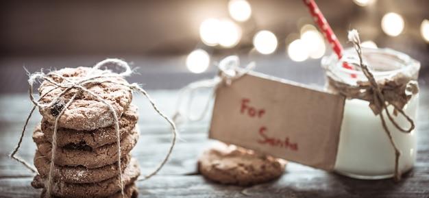 Lait Et Biscuits Pour Le Père Noël Photo gratuit