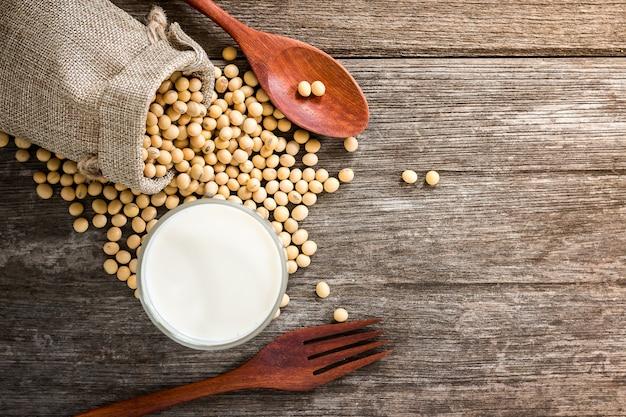 Lait de soja pour la santé Photo Premium
