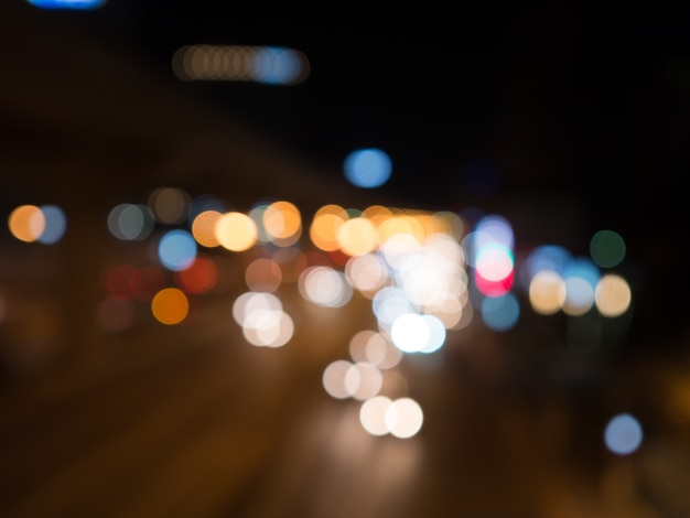 Lampadaires bokeh fond Photo Premium