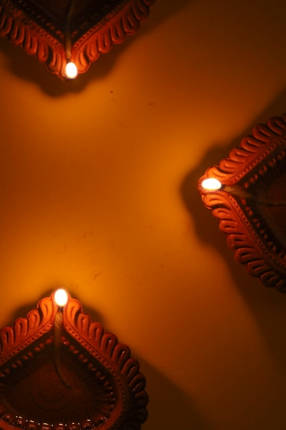 Lampe à Huile Happy Diwali Photo Premium