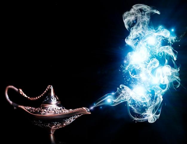 Lampe magique aladdin Photo Premium