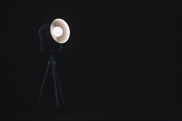 Lampe sur trépied en studio Photo gratuit