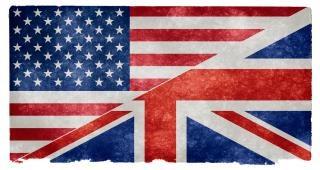 Langue anglaise grunge grain drapeau Photo gratuit