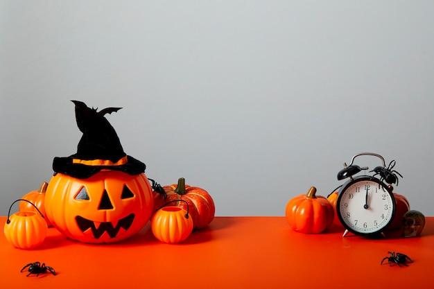 Lanterne citrouille halloween orange Photo Premium