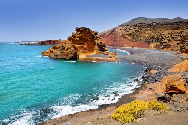 Lanzarote el golfo lago de los clicos Photo Premium