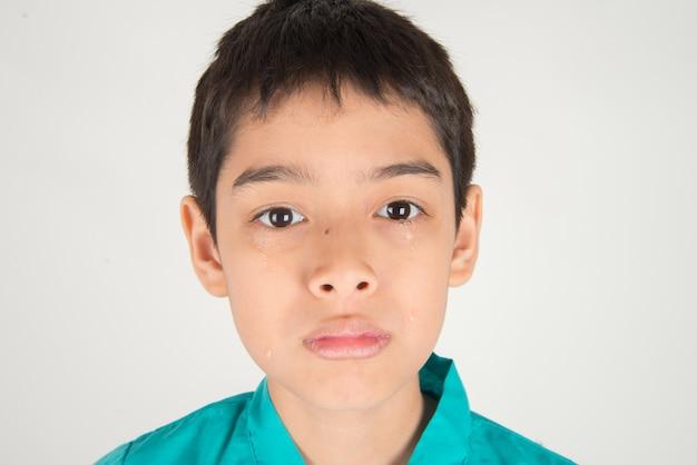 Larme sur les yeux de l'enfant Photo Premium