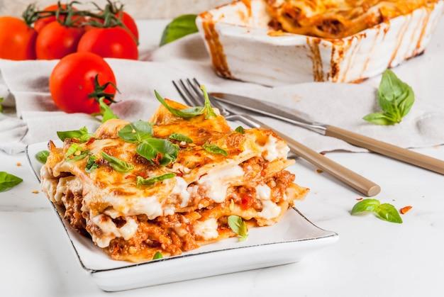 Lasagne Bolognaise Classique Photo Premium