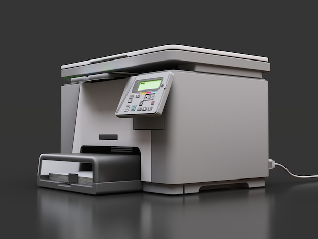 Laser Mfp Sur La Surface Grise Photo Premium