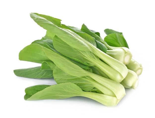 Légume bok choy isolé sur fond blanc Photo Premium