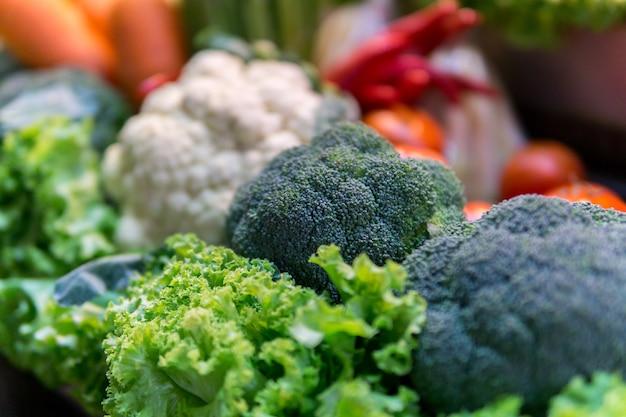 Légumes frais. fond de légumes colorés. Photo Premium