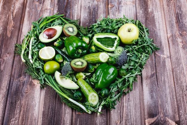 Légumes frais, fruits et verdure. vie saine et nourriture. Photo gratuit