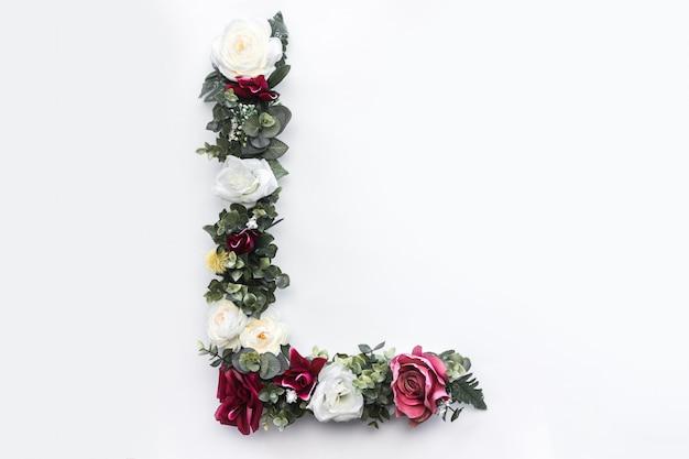 Lettre de fleur l monogramme floral photo gratuit Photo gratuit