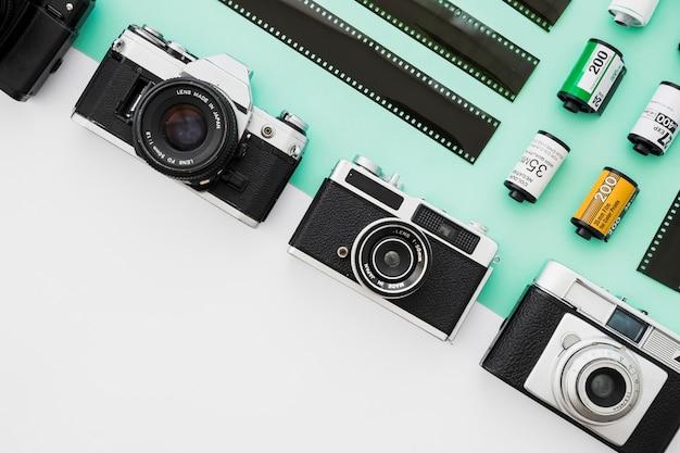 Ligne d'appareils photo près du film Photo gratuit