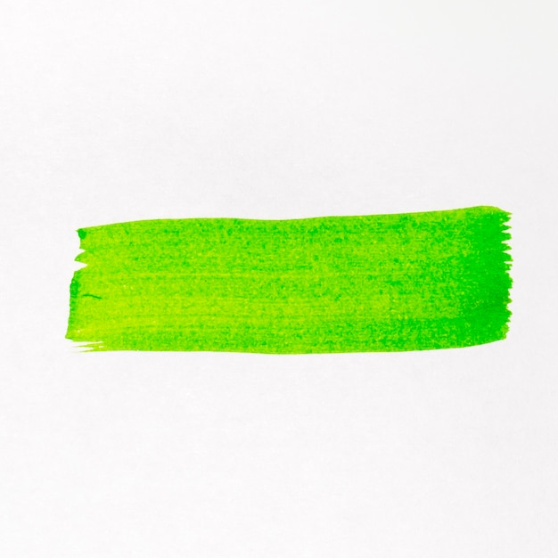 Ligne De Pinceau Vert Aquarelle Peinte Photo gratuit