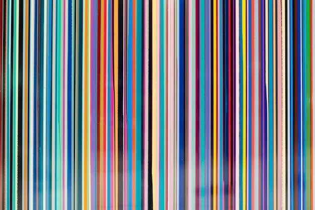 Ligne rayée colorée Photo Premium
