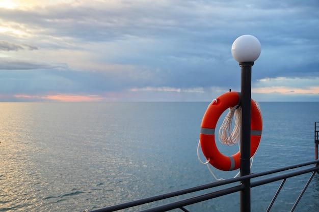 Ligne de vie orange Photo Premium