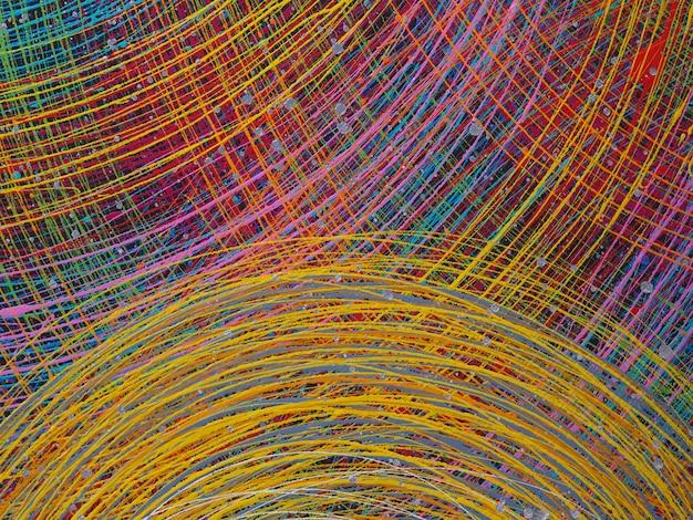 Lignes abstraites fond coloré avec texture. Photo Premium
