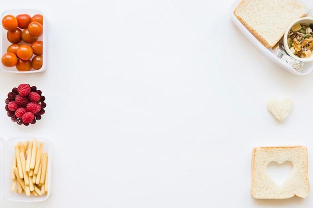 Lignes d'aliments sains Photo gratuit