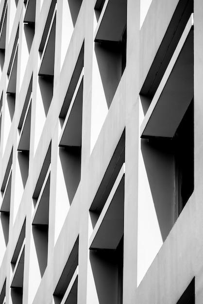 Lignes d'architecture de fond abstrait. détail d'architecture moderne Photo Premium