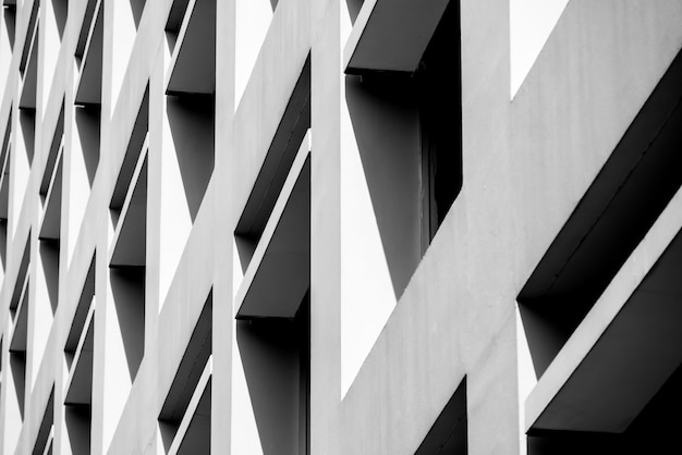 Lignes d'architecture de fond abstrait. détail d'architecture moderne Photo Premium