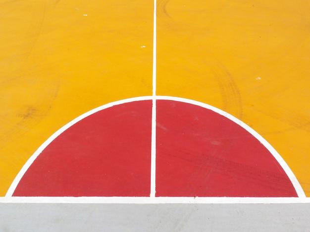 Lignes du terrain de basket Photo Premium