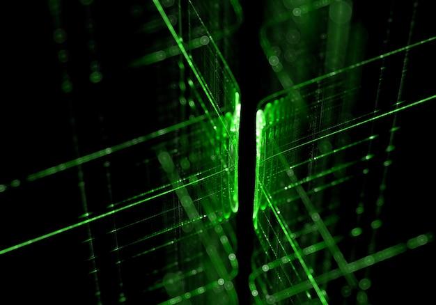 Lignes de technologies vertes fond Photo gratuit