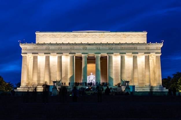 Lincoln memorial washington dc états-unis Photo Premium