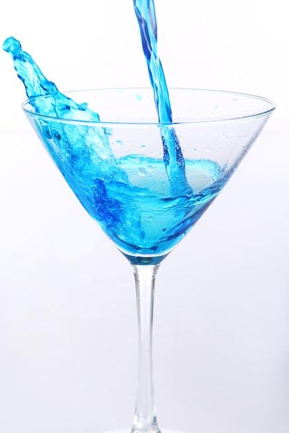 Liquide Bleu, Verser Dans Le Verre Photo gratuit