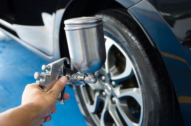 Liquide de pneu de pulvérisation Photo Premium