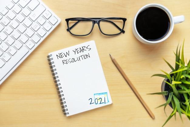 Liste Des Objectifs De Résolution De Bonne Année 2021 Photo Premium