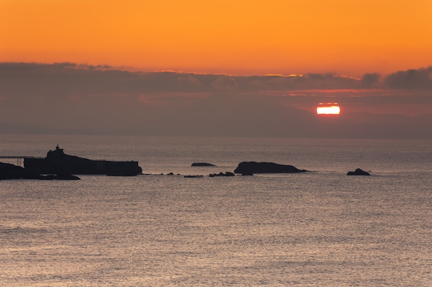 Littoral De Biarritz Au Pays Basque. Photo Premium