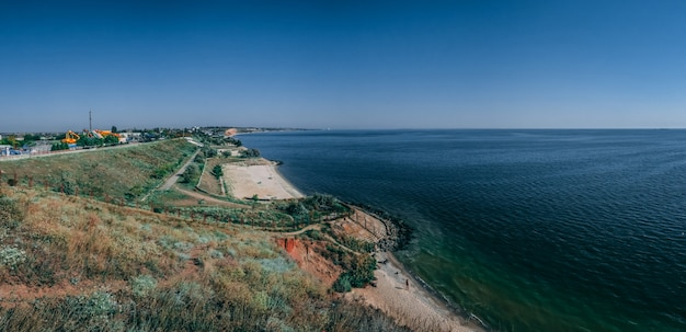 Littoral et plages d'ochakov, ukraine Photo Premium