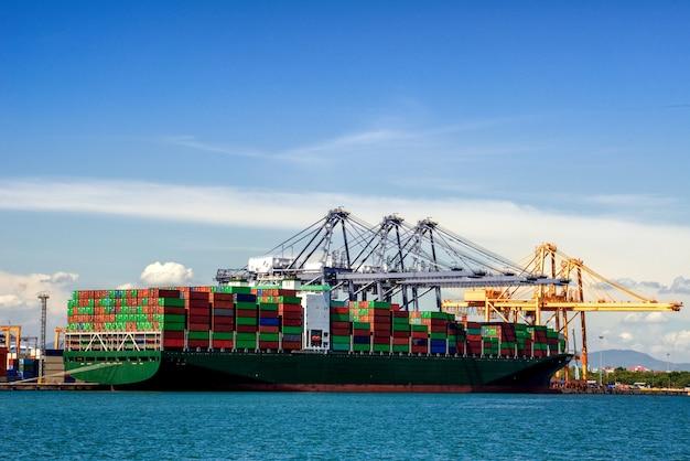Logistique import export et transport fond Photo Premium