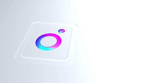 Logo Instagram Moderne En Dégradé De Couleurs Avec Fond Photo Premium