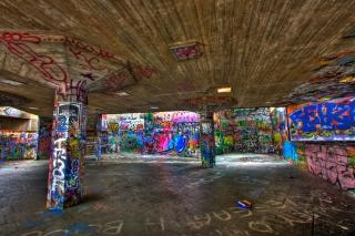 London Graffiti Hdr Photo gratuit