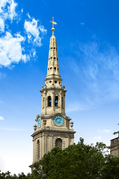 London trafalgar square eglise st martin Photo Premium