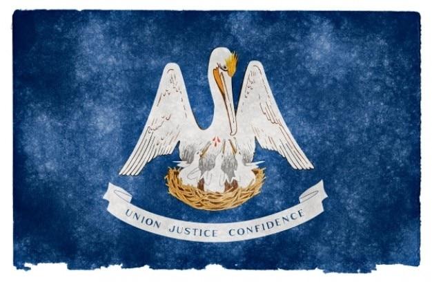 Louisiana flag grunge Photo gratuit