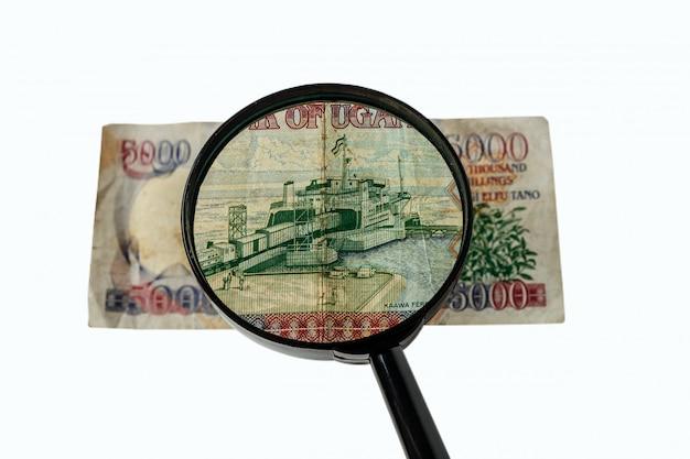 Loup et facture de shillings ougandais Photo Premium